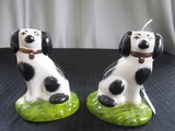 Staffordshire Kent, England Pair Ceramic Décor Dogs