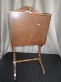 Wooden 2-Hutch Door Top Potato Bin w/ Handle/Spindle Legs
