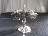 Godinger Silver Art Co. Birdhouse Salt/Pepper Shakers w/ Tree Stand