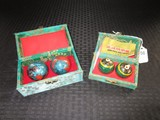 Lot - 2 Ornate Asian Motif Iron Balls & 2 Dragon Motif Iron Balls