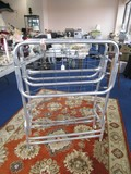 Vintage Metal Folding Wire Bed on Caster
