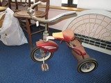 W.M. Mason Metar Co. Child's Red Metal Tricycle Vintage, 2 Step Back w/ Bell