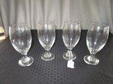 4 Pilsner Glasses Clear Glass 7