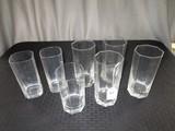 Square/Hexagonal Shape Clear Glass Tumblers