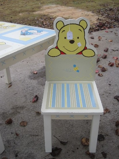 Incredible Kids Line Disney Based Winnie The Pooh Childs Table W Andrewgaddart Wooden Chair Designs For Living Room Andrewgaddartcom