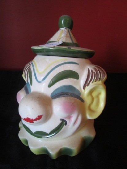 Sierra-Vista California Ceramic Clown Cookie Jar w/ Lid