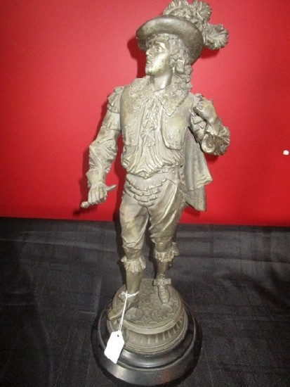 Metal Renaissance Man Statue/Figurine