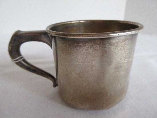 International Sterling K34 Handled Sterling Baby Cup(+-77.25G)