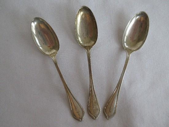 3 Towle Silver Smiths Sterling Silverware Paul Revere 1906 Pattern Demitasse Spoons(+-12G)