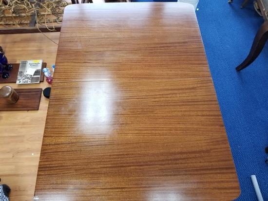 Vintage Tiger Oak 2 Pedestal Extendable Wood Dining Table