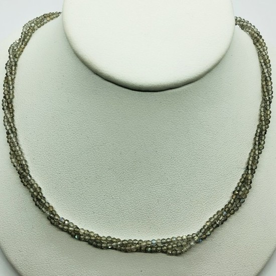 Silver Moonstone 35ct Necklace