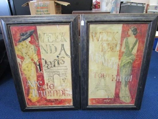 Weekend in Paris Poster Prints Tour Eiffel & Arc De Triumph