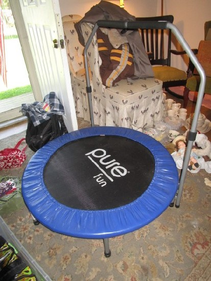 Pure Fun Exercise Trampoline Blue Lined