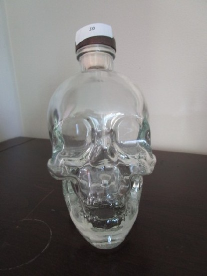 50 Years Rolling Stones Crystal Head Vodka 750ml Glass Bottle Skull Design