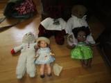 Lot - Red Elvis Bear, Plus Bear, Puppet, Black Girl Doll, Little Debbie Doll