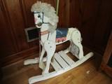 Vintage White Wooden Rocking Horse Carousel Design