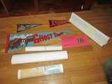 Wall Décor Lot - Ghost Town N.C. Flag, Cherokee Reserve Flag, Rules of Tavern Poster, Etc.
