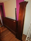 QUEEN Wooden Sleigh Design Bed Grooved Sides, Curved Headboard/Footboard/Rails