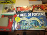 Lot - Vintage Games, Wheel of Fortune 2nd Edition, Merlin, Scrabble, Sentence Cube Game
