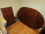 Wooden Extendable Dining Table, Curved Legs, 1 Leaf