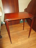 Wooden Side Table Gilted Pattern Trim Top