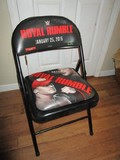 Black Metal WWE Royal Rumble Folding Chair
