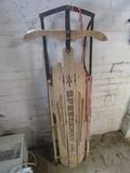 Vintage Speedaway Wooden/Metal Snow Sled