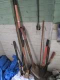Lot - Hedge Cutter, Shovel, Rake, Etc.