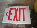 Electronic Exit Sign Red, Lighted