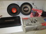 Lot - Crack Powerone 2000 Watts Car Audio Amplifier, Dual 12
