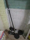 Vintage Metal Exercise Weight Bar 10lb Dumbbell, 2 1/2/5lb Barbells