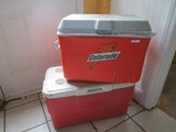 Rubbermaid Gatorade Red Cooler/Coleman Red/White Top Cooler w/ Handles