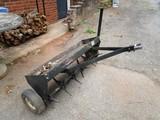 Brinley Metal Lawn Mower Attachment Black Seed Spreader/Cultivator w/ Wheels