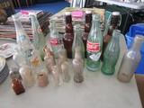 Vintage Bottle Lot - Groback Amber Bottles, Dr. Pepper, Coca-Cola, Apothecary Bottles, Etc.