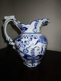 Seymour Mann China Blue Fine Porcelain Décor Jug Floral Pattern