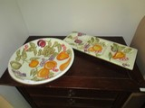WCL Fruit/Grape Ceramic Bowl 12 3/4