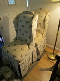 Pair - Rooster Upholstered Pattern Chair