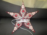 Wooden Floral Pattern Star Light Décor