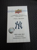 Upper Deck Yankee Stadium Legacy Limited 43852-53540 Cards in Box