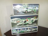 Hess Lot - Helicopter w/ Motorcycle & Cruiser, SUV w/ Motorcycle, Racer Car & Racer