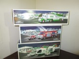 Hess Lot - Toy Truck & Jet, Helicopter w/ Motorcycle & Cruiser