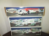 Hess Lot - Fire Truck, Toy Truck & Airplane, Toy Truck & Racecars in Boxes