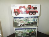 Hess Lot - Toy Truck & Front Leader, Monster Truck w/ Motorcycles in Boxes