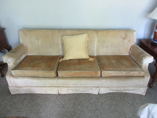 Ethan Allen Traditional Classic Collection Formal Sofa w/ Pleated Skirt