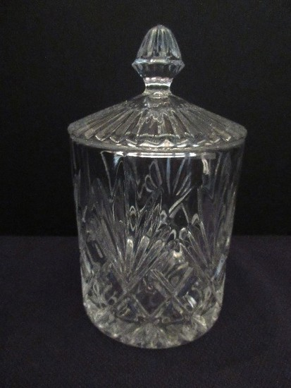 Hand Crafted Lead Crystal Covered Candy Dish Pineapple Pattern