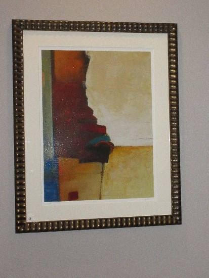 """Abstract """"Solar Eclipse"""" Giclee Artist Signed Nela Soloman Limited 13/295 Edition"""