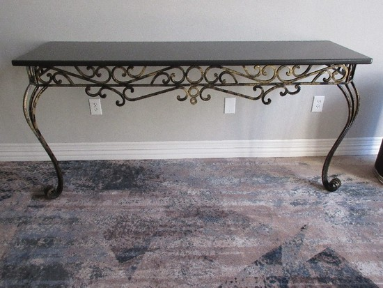 Console Table French Inspired Granite Top Console