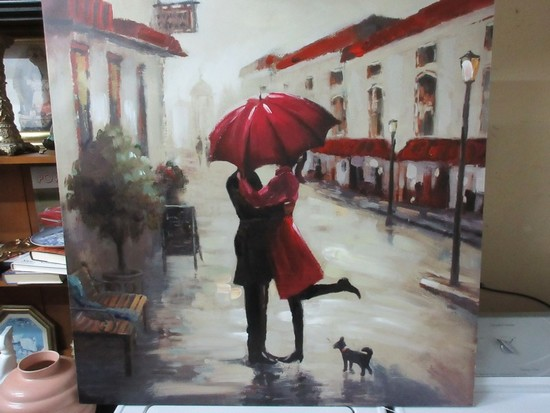 "Titled ""Red Umbrella"" Giclee Acrylic on Canvas From Kirkland's"
