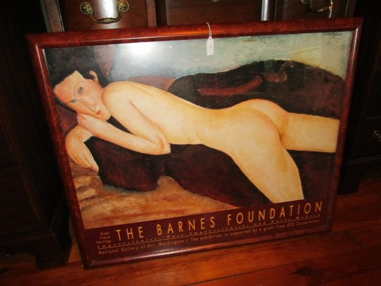 """Nude Laying Woman Print """"Great French Painting The Barnes Foundation"""""""