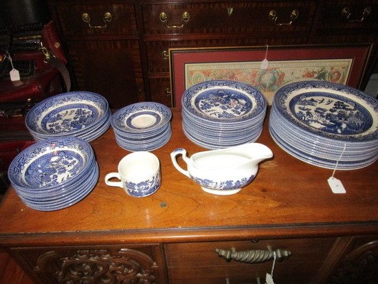 Churchill England Willow Blue Ceramic Asian Motif